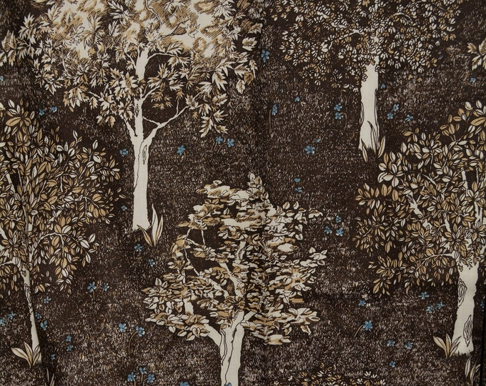 1970s Mod Upholstery fabric with trees