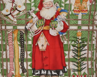 Christmas at the Cabin, J Wecker Frisch fabric Santa panel, Nordic Santa