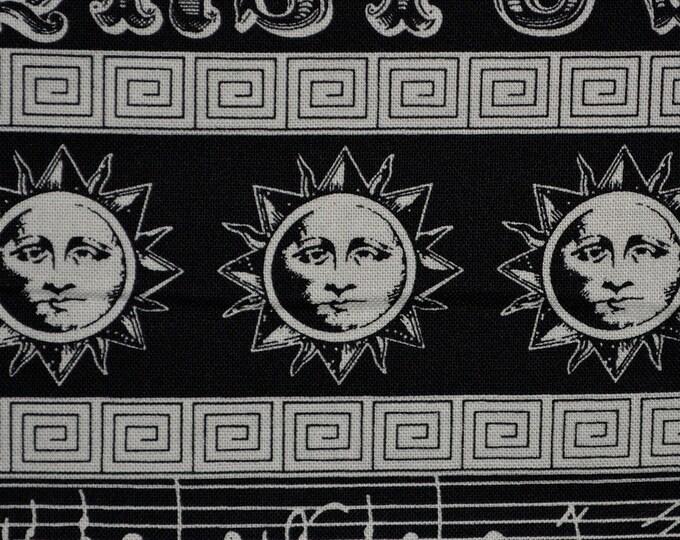 Steampunk fabric in Black White stripe Timeless Treasures David Sweet