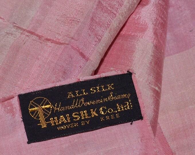 Handwoven silk fabric silk sari silk sarong from Siam Thailand