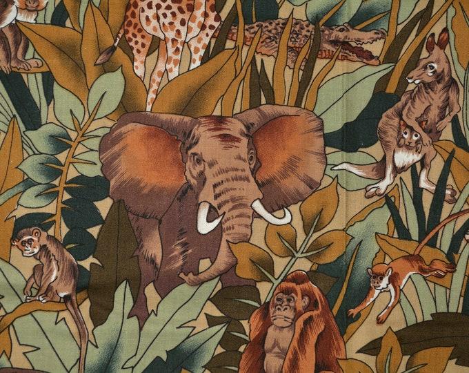 Jungle safari animals fabric African and Australian wildlife