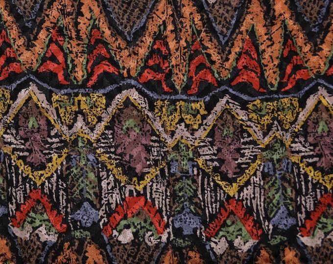 Scarf fabric, Geometric Ethnic print pure silk fabric
