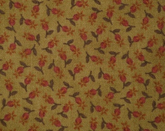 Miniature fabric Tiny floral fabric dollhouse doll clothes quilting Brannock and Patek moda fabric