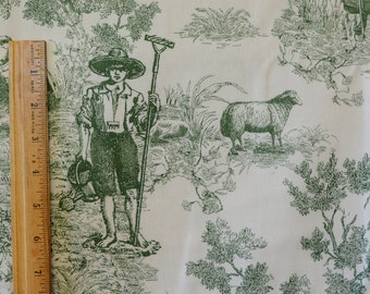 French toile fabric Toile de jouy fabric farm toile fabric by the yard