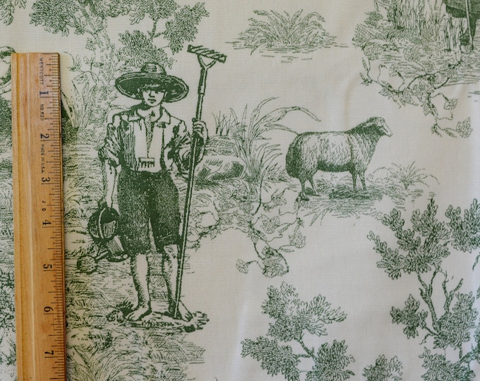 French toile de jouy fabric French Farmhouse decorator cotton