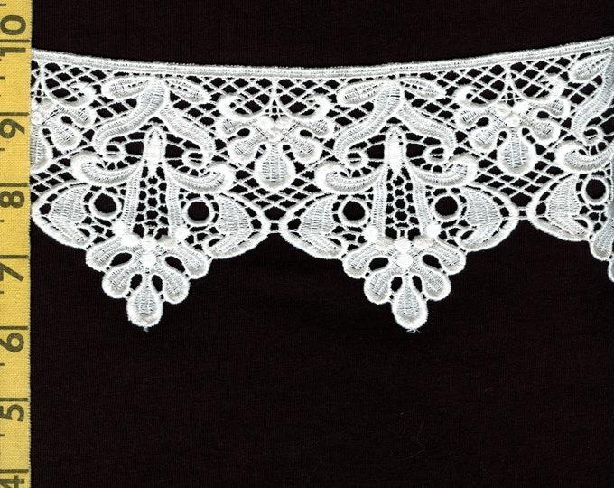 2 yards Dyeable floral lace trim, Bella Notte