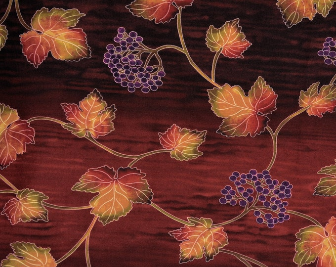 Grape vines quilting fabric, Timeless Treasures Nature