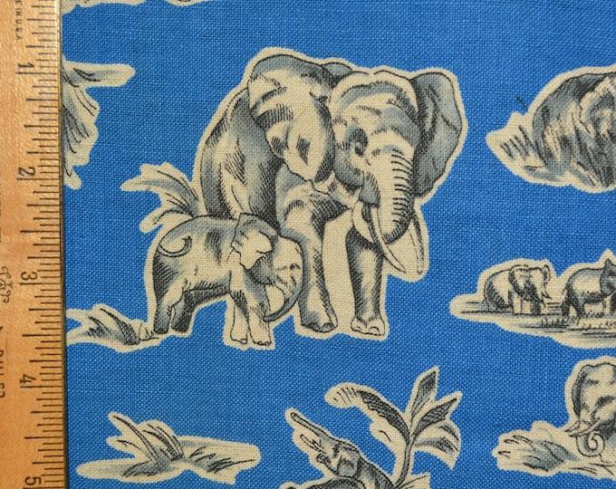 African Elephant fabric mama baby elephant 2 yards