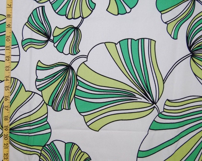 Tropical rainforest print upholstery fabric Ginkgo leaf
