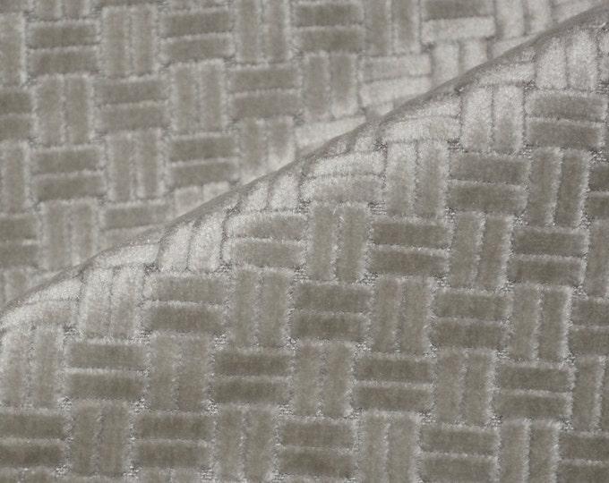 Velvet upholstery fabric by the yard, geometric fabric