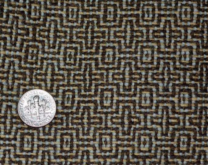 Pure Wool fabric with woven geometric pattern gorgeous apparel width 2 yards