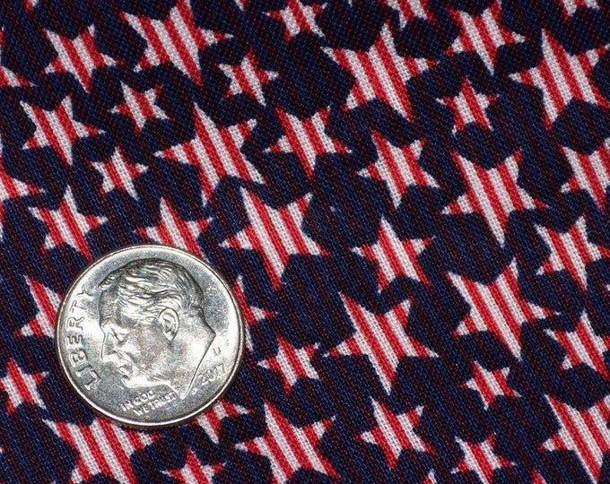 Patriotic fabric for 4th of July with stars and stripes