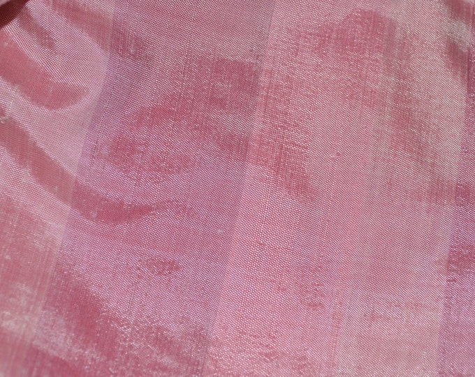 Handwoven silk Pink silk fabric striped silk fabric dupioni silk Thai silk