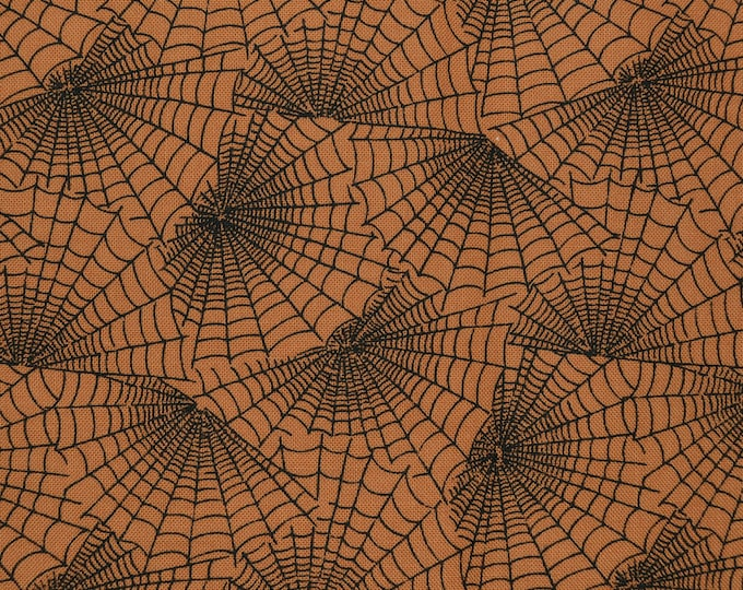 Halloween fabric with spider webs RJR Fabrics out of print