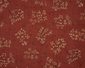 Southwest fabric with native drawings, Native quilt fabric, JoAnn fabric