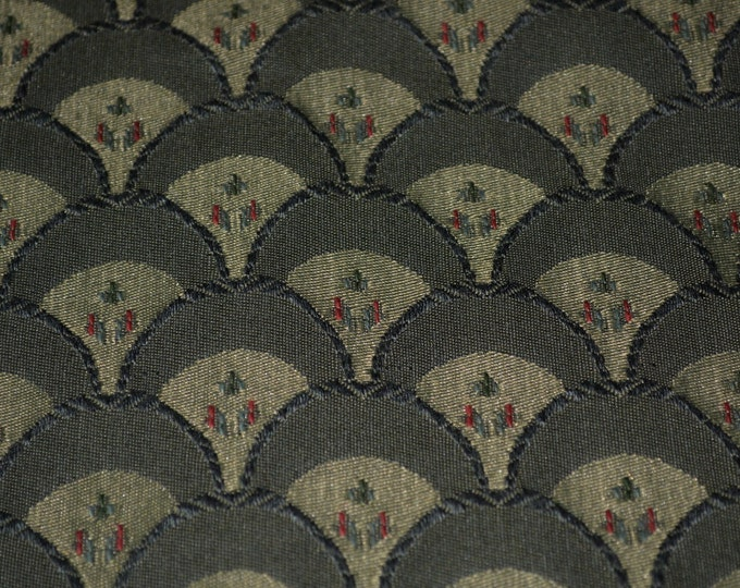 Scallop fabric Art deco fan heavy designer upholstery fabric