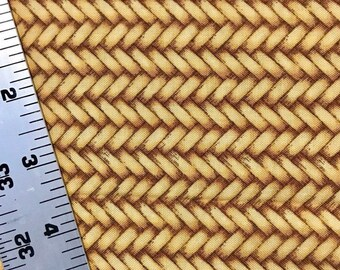 Basketweave fabric braided look Alexander Henry 1 yard