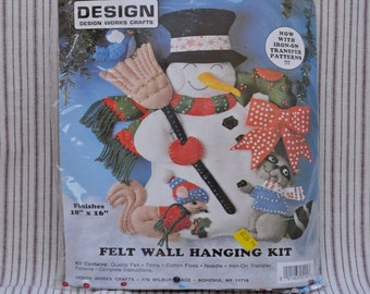 Woodland Snowman felt kit, Design Works Crafts