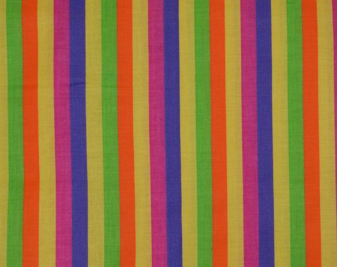 Rainbow fabric, with rainbow stripe, Springs