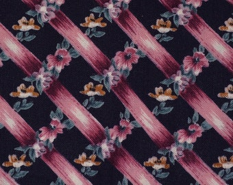 Black Floral fabric trellis fabric Hoffman Coventry Collection