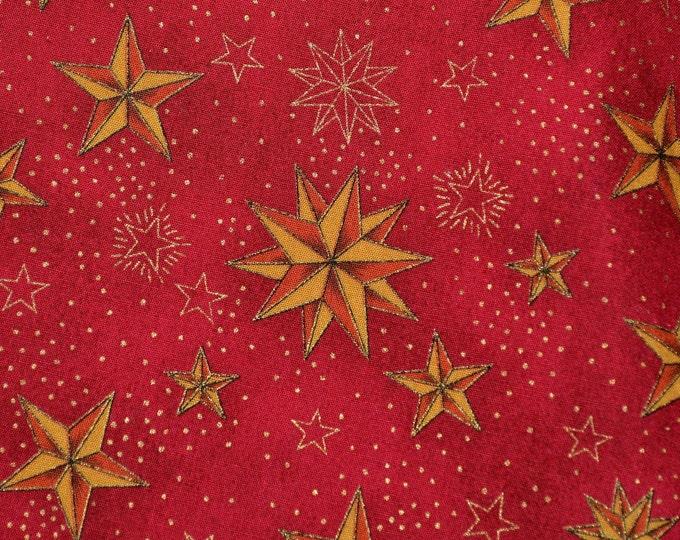 Celestial stars fabric, Christmas fabric by Hollytex
