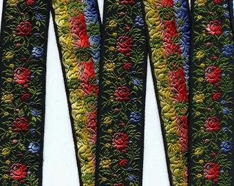Jacquard floral ribbon, Grayblock rayon from Switzerland