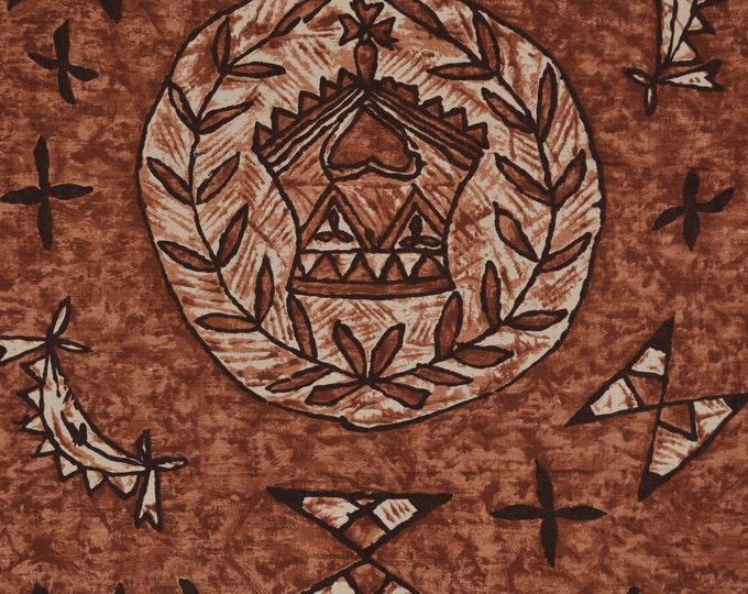 Mid Century Barkcloth fabric Hawaiian fabric Hawaiian Textiles