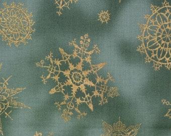 Snowflake fabric Christmas rare Alexander Henry fabric OOP