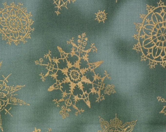 Snowflake fabric winter Christmas VHTF out of print Alexander Henry