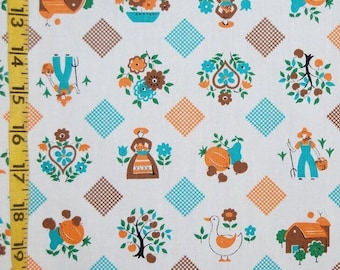 40s fabric by the yard Pennsylvania Dutch