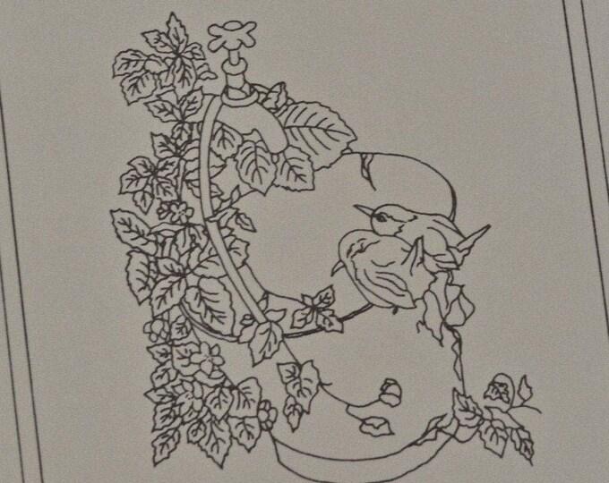 Garden Birds embroidery kit vintage Eva Rosenstand