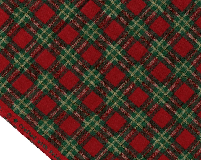 Christmas printed plaid fabric, Joan Kessler for Concord Fabrics