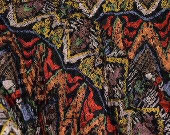 Pure silk fabric, Geometric Ethnic print