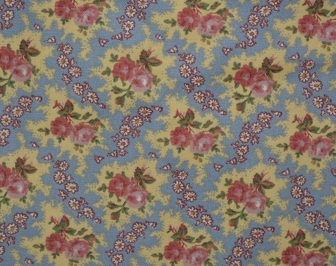 Shabby Chic upholstery fabric D'Ascoli 5th Avenue Country floral