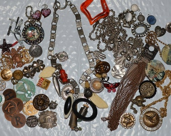 Mixed jewelry lot vintage jewelry lot supplies