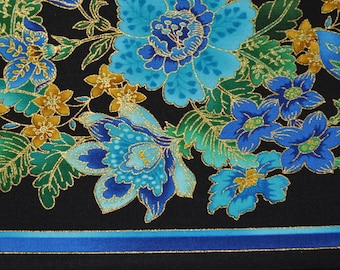 Plume fabric floral stripe, Timeless Treasures Chong-a Hwang