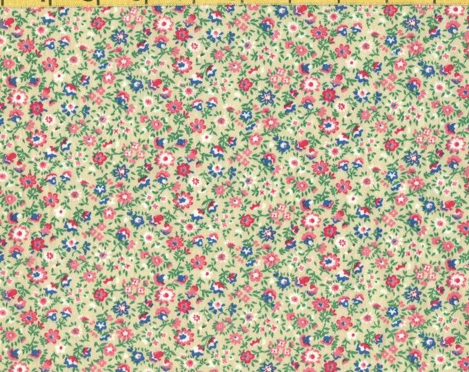 Prairie Calico floral fabric, Tiny floral print fabric, HALF YARD