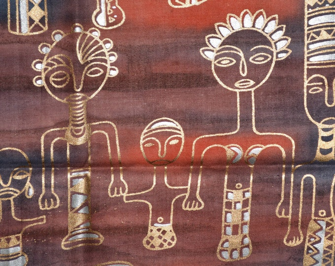 African tribal family fabric