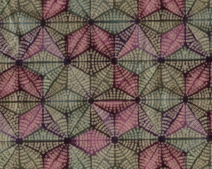 Geometric fabric, kaleidoscope  pinwheel fabric, Hoffman vintage