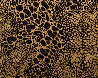 Gold Black fabric marbled fabric blender cotton Elizabeth Studio