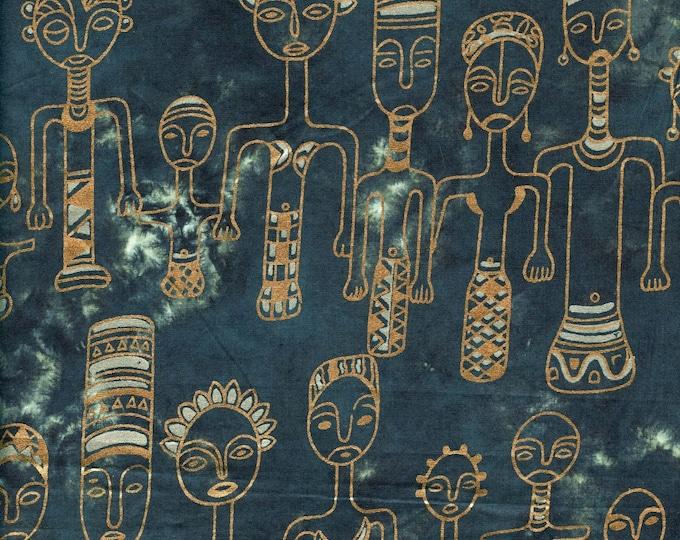 African family fabric, tribal batik fabric