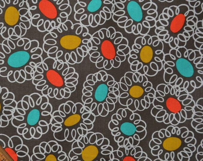 Retro mod fabric quirky Michael Miller fabric by the yard discount