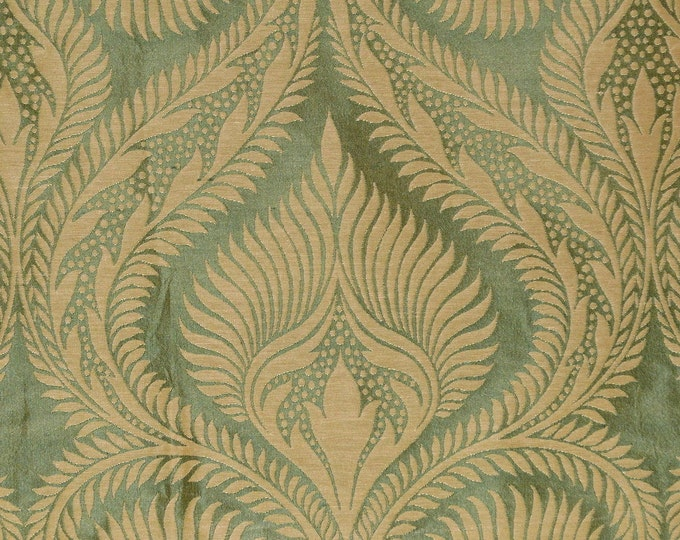 Damask silk upholstery fabric ogee pattern Moroccan decor