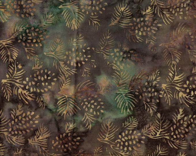 Nature fabric, pine cones Tie dyed fabric Batik wax resist