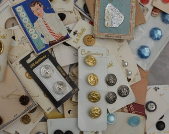 Vintage Carded buttons vintage sewing buttons on cards