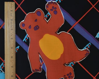 Funky vintage fabric with Large print bears Grateful Dead inspired maybe