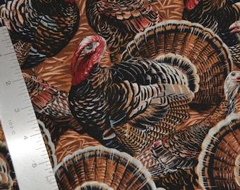 Thanksgiving Turkey fabric wild turkey bird by Timeless Treasures