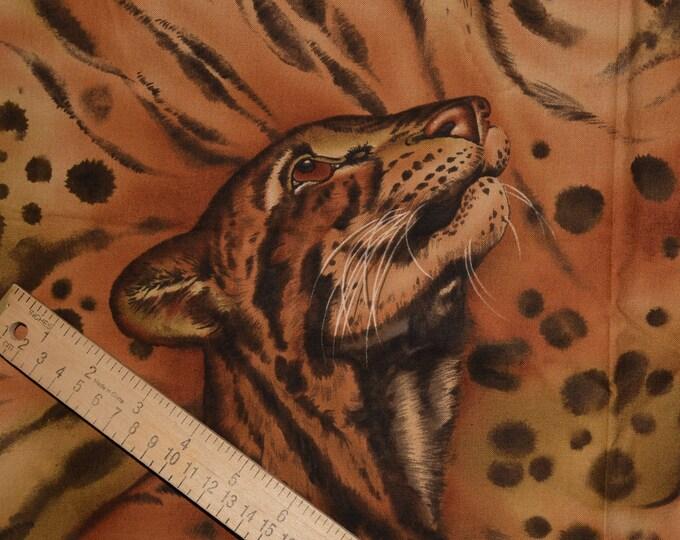 Jaguar jungle cat fabric, Alexander Henry fabric