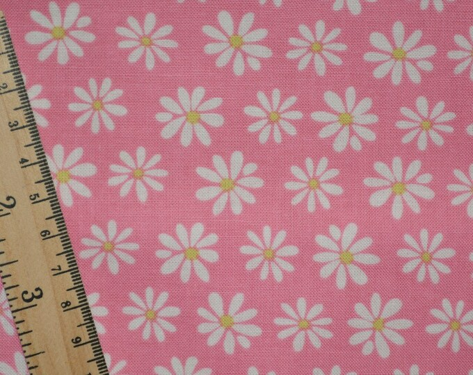 Kaufman fabric Monoluna fabric pink daisies fabric