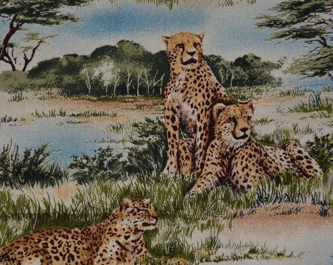 African safari animals fabric African animals VHTF Robert Kaufman fabric by the yard